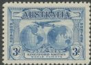 Australia KGV SG122 1931 3d Kingford Smith's World Flights (AGCM/447)